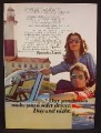Magazine Ad For Bausch & Lomb Ray-Ban Sunglasses, Couple Parked By Lighthouse, Ray Ban, 1974