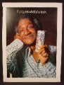 Magazine Ad For Colt 45 Malt Liquor, Beer, Redd Foxx, If Unique Is What You Seek, Celebrity, 1974