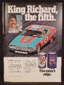 Magazine Ad For STP Oil Treatment & Filter, Richard Petty, Daytona, Celebrity Endorsement, 1974