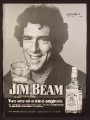 Magazine Ad For Jim Beam Kentucky Bourbon Whiskey, Elliot Gould, Celebrity Endorsement, 1974