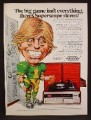 Magazine Ad For Marantz Superscope Record Player, Cartoon Football Player, 1974