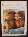 Magazine Ad For Bausch & Lomb Ray Ban Sunglasses, Couple Watching Horses, Ray-Ban, 1975