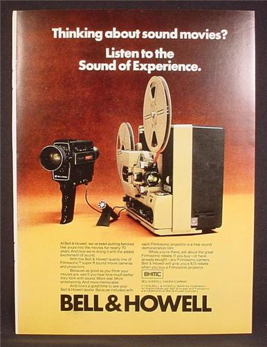 Magazine Ad For Bell & Howell Super 8 Sound Movie Projector & Camera, 1976, 8 1/8 by 10 7/8