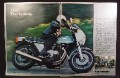 Magazine Ad For Kawasaki Z1-R Motorcycle, Z1R, Z1 R, 1977, 3 Page Ad