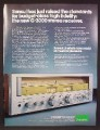 Magazine Ad For Sansui G-3000 Stereo Receiver, G 3000, G3000, 1977, 8 1/8 by 10 7/8