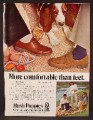 Magazine Ad For Hush Puppies Shoes, Basset Hound, More Comfortable Than Feet, 1978