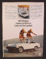 Magazine Ad For MG Midget Convertible Car, 2 Guys Jumping Over Car From Skateboards, 1978