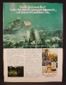 Magazine Ad For Canadian Club Whiskey, Hid A Case on Devil's Backbone Reef, 1979