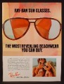 Magazine Ad For Bausch & Lomb Ray-Ban Sunglasses, Most Revealing Beachwear, Bikini, 1979