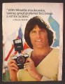 Magazine Ad For Minolta Camera & Flash, Bruce Jenner, Celebrity Endorsement, 1979