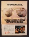 Magazine Ad For Bausch & Lomb Ray-Ban Sunglasses, Most Important Driving Equipment, 1979