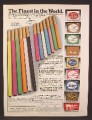 Magazine Ad For Fantasia & Jubilee Bright Colored Cigarettes with Gold Filters, 1979