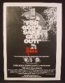 Magazine Ad For The Amityville Horror Movie, For God's Sake Get Out, James Brolin, 1979