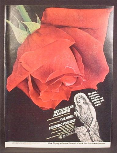 Magazine Ad For The Rose Movie, Bette Midler, Alan Bates, 1979, 8 1/8 by 10 7/8
