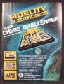 Magazine Ad For Fidelity Electronics Voice Chess Challenger Game, Bridge, Checkers, 1979