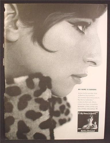 Magazine Ad For Barbara Streisand LP Album, My Name Is Barbara, Columbia Records, 1964