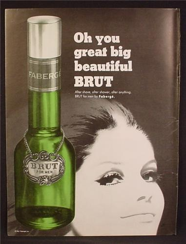 Magazine Ad For Faberge Brut After Shave, Oh You Great Big Beautiful Brut, 1966, 8 3/8 by 11