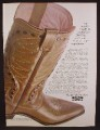Magazine Ad For Wester Bootmaker Cowboy Boots, Nashville, Tennessee, 1966, 8 3/8 by 11