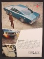 Magazine Ad For Plymouth Sports Barracuda Car, Interior, Overhead View, 1967, 8 1/4 by 11