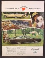 Magazine Ad For Plymouth Sport Fury Car, Interior, Side & Rear View, 1967, 8 1/4 by 11
