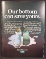 Magazine Ad For Keds Mainsail Deck Shoe, Runner, Sneaker, Our Bottom Can Save Yours, 1968