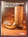 Magazine Ad For Acme Cowboy Boots, Trail Boss Style, Custom Quality Boot, 1968