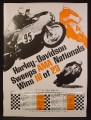 Magazine Ad For Harley-Davidson Sweeps AMA Nationals, Wins 18 of 23, Harley Davidson, 1969