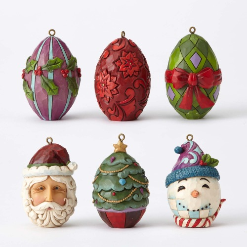 Jim Shore Christmas Egg ornament set 4053718 - Holidays and Memories
