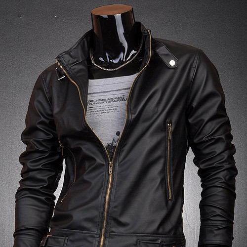 Jeansian Designer Men's Style Faux Leather Jacket Coat 8914-0401 ...