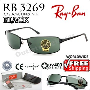 add614f79c7 Rayban Ray Ban RB 3269 RB3269 63MM Black Sunglasses - Outletsunglasses