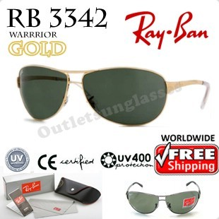 2e54f9139a Rayban Ray Ban RB 3342 RB3342 63MM Gold Arista 001 - Outletsunglasses
