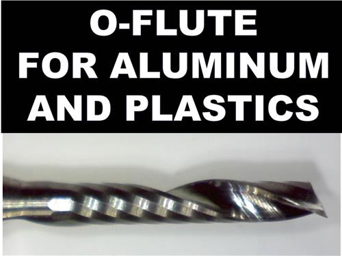 'O' Flute Carbide End Mills - 2.00mm, 2.50mm or 3.00mm  for Aluminum Plastic Acrylic