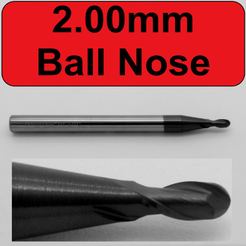 4.00mm AlTiN Coated Ball Nose End Mill