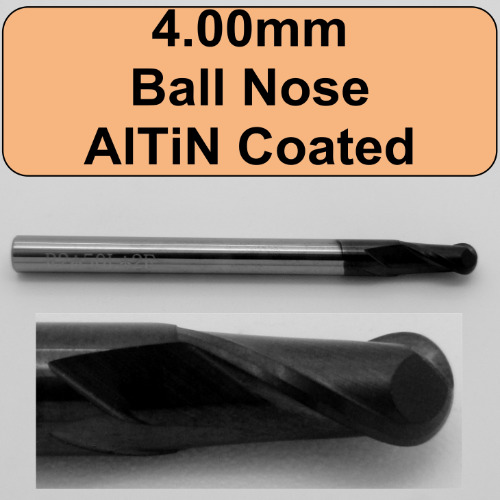 AlTiN Coated Ball Nose Endmill