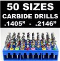 Carbide Drill Bit Set - 50 Sizes!  - pcb cnc solid carbide jewelry model     LG3