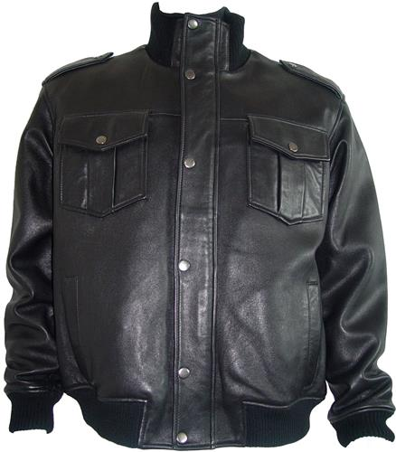 1010 Fine Urban Black Leather Mens Jackets Big Tall And All Size