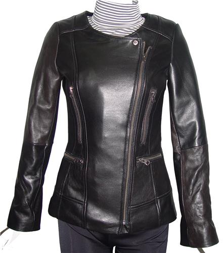 Big Woman & All Size 4128 Classic Clean Leather Jackets Ladies ...