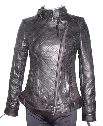 Tall All Size 4123 Classic Quilted Leather Moto Jackets Womens