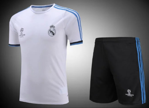 sports shoes b17fe eaac9 Real Madrid Champions League White training Kit with Free name and number