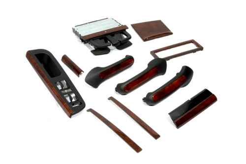 Interior Dash Console Trim Kit Dark Walnut Golf Mk4