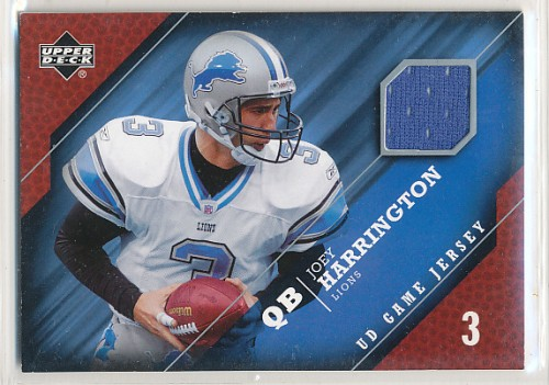 2005 UPPER DECK JOEY HARRINGTON JERSEY CARD #GJ-JH