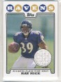 2008 TOPPS RAY RICE JERSEY CARD #RPR-RR