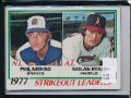 1978 TOPPS 1977 STRIKE OUT LEADERS PHIL NIEKRO,NOLAN RYAN #206.jpeg