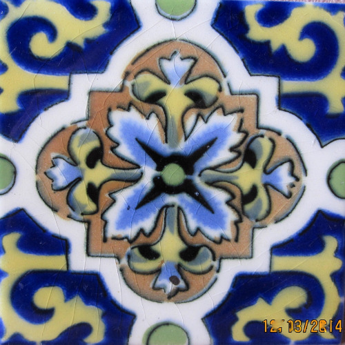 mexican tiles antique look with glaze crazing