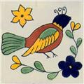 Mexican Ceramic Tile bird1 Style