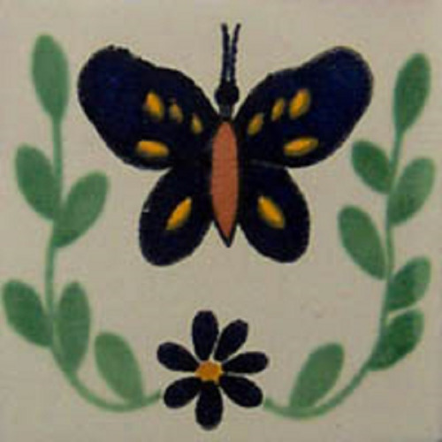 mexican tile butterfly