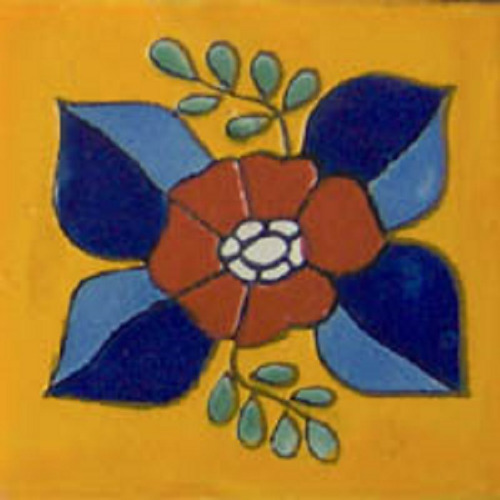 Mexican Tile terra cotta flower