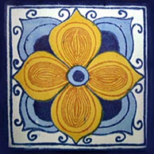 moorish tile arabic flower
