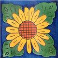 mexican tile cobalt sunflower