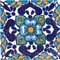 painted mexican tile design